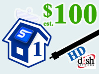 hd dish network single room installation